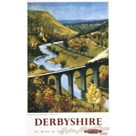 derbyshire-by-train-metal-sign
