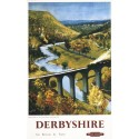 Derbyshire by Train British Railways vintage travel metal tin sign poster plaque