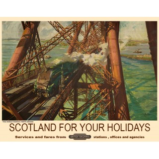 Scotland For Your Holidays Railways vintage travel  metal tin sign poster