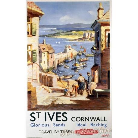 st-ives-cornwall-british-railways-tin-sign