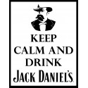 Keep Calm and drink Jack Daniels whiskey pub bar metal tin sign