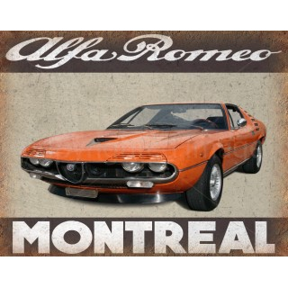Alfa Romeo Montreal vintage metal tin sign  plaque