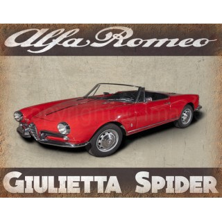 Alfa Romeo Giulietta Spider vintage metal tin sign  plaque