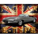 Jaguar E-Type  vintage metal tin sign wall plaque