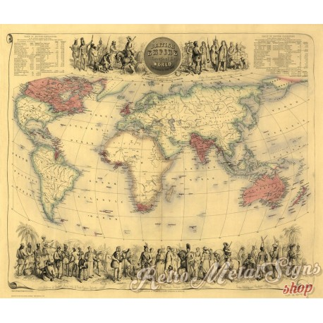 british-empire-in-1855-vintage-map-metal-sign
