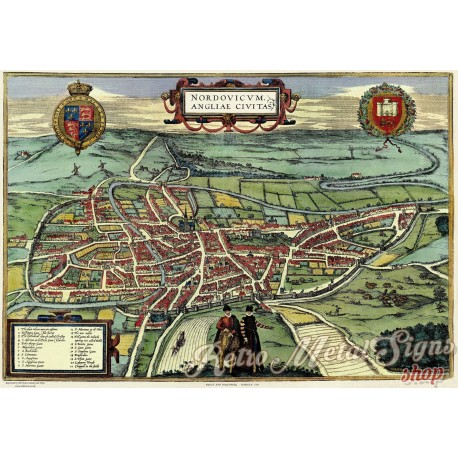 map-of-norwich-in-1851-metal-sign