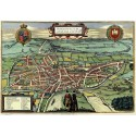 Map Of Norwich in 1851 metal tin sign poster wall plaque