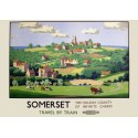 Somerset by Train vintage travel metal tin sign poster plaque
