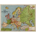 Map Of Europe in 1920 metal tin sign poster wall plaque
