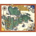 Post Office radio telephone services 1939 pictorial map metal tin sign poster