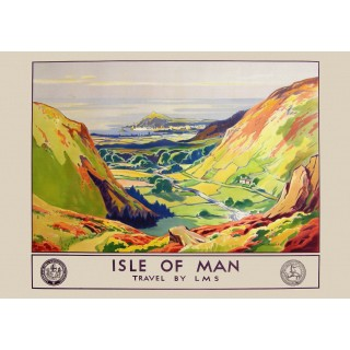 Isle of Man Railways vintage travel metal tin sign poster