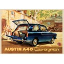 Austin A40 Countryman vintage metal tin sign wall plaque