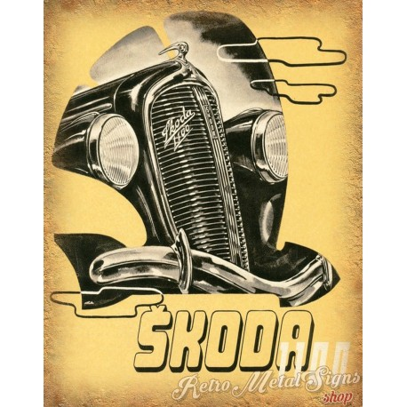 Skoda 1100 Vintage Metal Sign