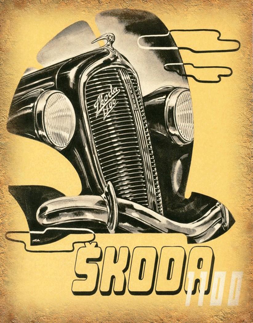 Skoda cars metal tin signs | Skoda cars repair service tin signs ...