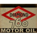 Diamond Motor Oil vintage metal tin sign wall plaque