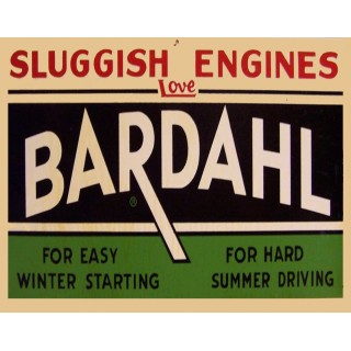 Bardahl Motor Oil vintage metal tin sign wall plaque
