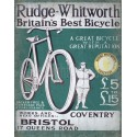 Rudge Whitworth Cycles vintage metal tin sign wall plaque