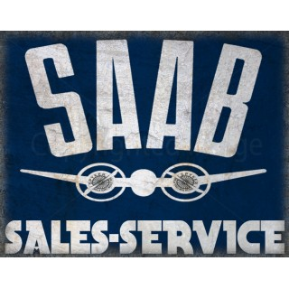saab-sales-service-metal-sign