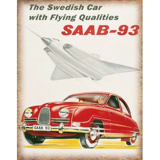 saab-9-3-metal-sign