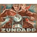 1935 Zundapp Motorcycles Vintage garage metal tin sign