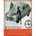 Warszawa FSO car vintage garage metal tin sign wall plaque