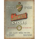 The Famous James Cycles vintage metal tin sign wall plaque
