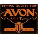 Avon Solid Tyres vintage garage metal tin sign wall plaque