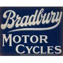 Bradbury Motor Cycles Vintage garage metal tin sign
