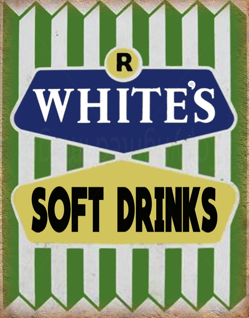 R Whites Lemonade vintage drink metal tin sign poster wall plaque