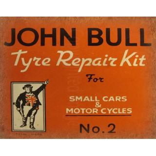 John Bull Tyre Repair Kit vintage garage metal tin sign wall plaque
