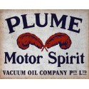 Plume Motor Spirit Oil vintage metal tin sign wall plaque