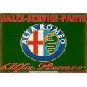Alfa Romeo Sales Service vintage metal tin sign wall plaque
