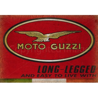Moto Guzzi  motorcycle Vintage garage metal tin sign
