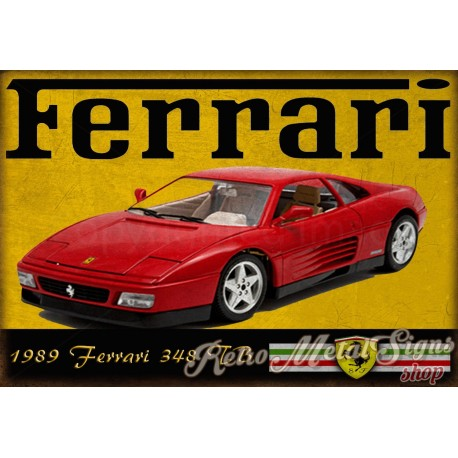 1989-ferrari-348-tb-metal-sign