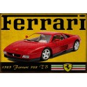 1989 Ferrari 348 TB vintage metal tin sign wall plaque