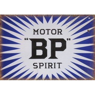 BP Motor Spirit oil vintage garage  metal tin sign wall plaque