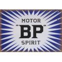 BP Motor Spirit oil vintage garage  metal tin sign wall plaque