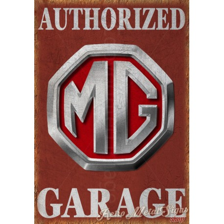 mg-authorized-garage-metal-sign