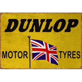 Dunlop Tyres Vintage garage metal tin sign wall plaque