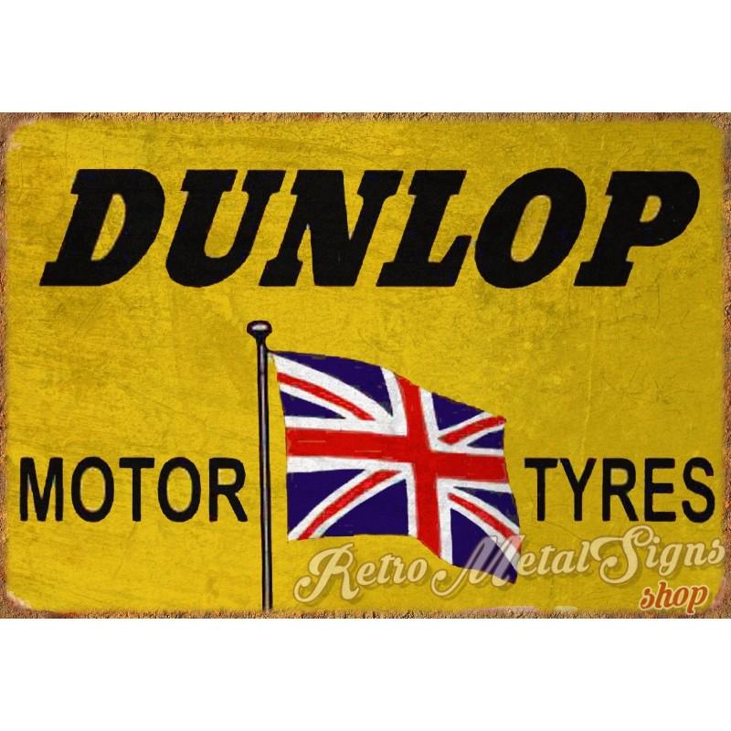 Dunlop Tyres Vintage Garage Vintage Metal Tin Sign Wall Plaque