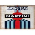 Martini Racing Team garage metal tin sign wall plaque