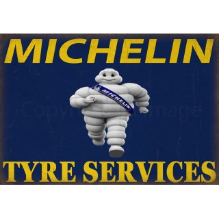 Michelin Tyres vintage garage metal tin sign wall plaque