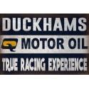 Duckhams Motor Oil vintage garage  metal tin sign wall plaque
