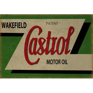 Castrol Motor Oil vintage garage  metal tin sign wall plaque