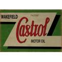 Castrol Motor Oil vintage garage  metal tin sign wall plaque