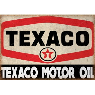 Texaco Motor Oil  vintage metal tin sign wall plaque