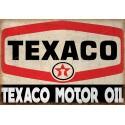 Texaco Motor Oil  vintage metal tin sign wall plaque