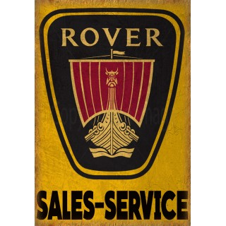 Rover Sales Service vintage metal tin sign wall plaque