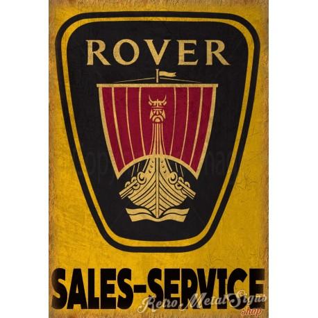 rover-sales-service-metal-sign