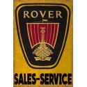 Rover Sales Service vintage metal tin sign wall plaque